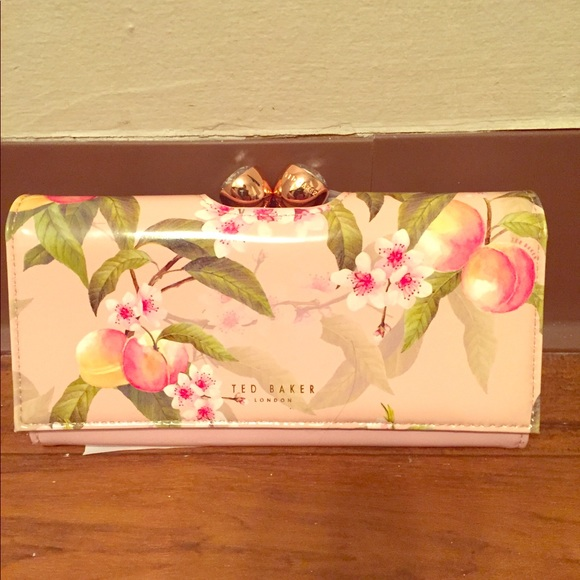 f827c6090ad Ted Baker London Bags | Ted Baker Georgia Peach Blossom Wallet Nwt ...